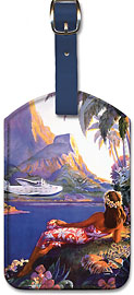 Fly to the South Seas Isles - Hawaiian Leatherette Luggage Tags
