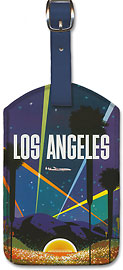 Fly TWA Los Angeles - Hollywood Bowl - Leatherette Luggage Tags