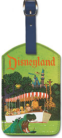 United Airlines Disneyland, Anaheim, California - Leatherette Luggage Tags