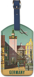 TWA Airlines: Fly TWA to Germany - Leatherette Luggage Tags