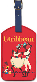 Caribbean - Leatherette Luggage Tags