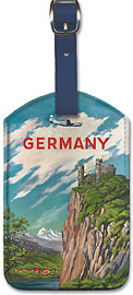 Pan American: Germany der Rhine - Leatherette Luggage Tags