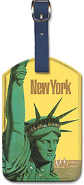 United NY Statue of Liberty - Leatherette Luggage Tags