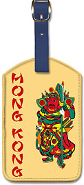 Hong Kong - Leatherette Luggage Tags