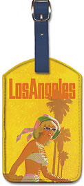 Los Angeles United Airlines - Leatherette Luggage Tags