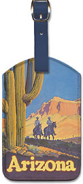 Santa Fe Railroad - Arizona - Leatherette Luggage Tags