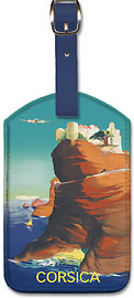 Corsica (Corse) - Bonifacio, France - Leatherette Luggage Tags