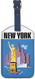 New York - Allegheny Airlines - Leatherette Luggage Tags