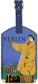 Berlin Germany - Leatherette Luggage Tags