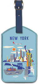 New York - USA - Manhattan - Fly Northwest Orient Airlines - Leatherette Luggage Tags