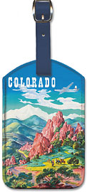 Colorado - United Air Lines - Garden of the Gods, Colorado Springs - Leatherette Luggage Tags