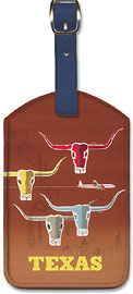 Texas - Longhorns - American Airlines - Leatherette Luggage Tags