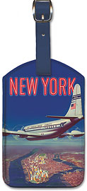 New York by Clipper Pan American - Leatherette Luggage Tags