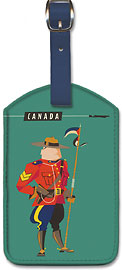 Canada - Royal Canadian Mounted Police (Mountie) - Qantas Empire Airways (QEA) - Leatherette Luggage Tags
