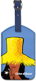 Côte d'Azur - South of France - Leatherette Luggage Tags