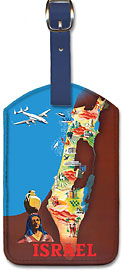 Israel - Leatherette Luggage Tags