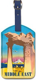 Middle East - Leatherette Luggage Tags