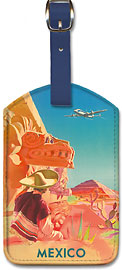 Mexico - Mayan Ruins - Leatherette Luggage Tags