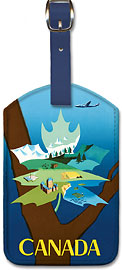 Canada - Maple Leaf Landscape - Leatherette Luggage Tags