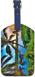 Where da Coconuts Grow, Hawaii - Hawaiian Leatherette Luggage Tags