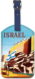 Israel - Walls of Jerusalem - Leatherette Luggage Tags