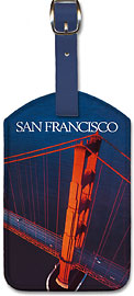 San Francisco - Golden Gate Bridge - Leatherette Luggage Tags