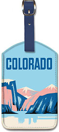 Colorado - Leatherette Luggage Tags