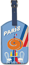 Orelia (Orangina) Beverage - Eiffel Tower, Paris - Orange / Citrus Beverage - Leatherette Luggage Tags