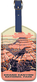 Grand Canyon National Park - Arizona - Leatherette Luggage Tags