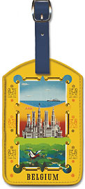 Visit Belgium - The Sea, the City and the Countryside - Leatherette Luggage Tags