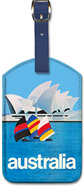 Australia Sydney Opera House - Leatherette Luggage Tags