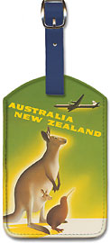 Australia New Zealand - Leatherette Luggage Tags