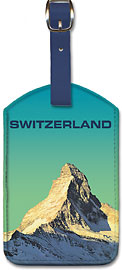 Switzerland Matterhorn - Leatherette Luggage Tags