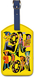 London England - The Beatles with Maharaja - Leatherette Luggage Tags