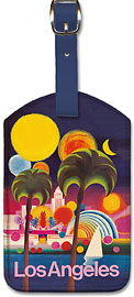 Los Angeles California - Leatherette Luggage Tags