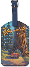 Mariposa Grove - Yosemite National Park - Wawona Tunnel Redwood Tree - Leatherette Luggage Tags
