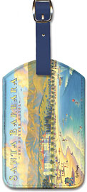 Santa Barbara - The Potter Hotel - California - Leatherette Luggage Tags