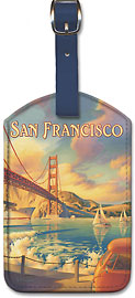 San Francisco - Leatherette Luggage Tags