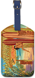 Kona Surfboards - Hawaiian Leatherette Luggage Tags
