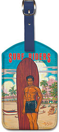 Surf Riders Waikiki - Hawaiian Leatherette Luggage Tags