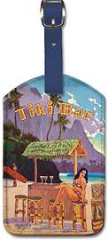 Tiki Bar Bali Hai - Hawaiian Leatherette Luggage Tags