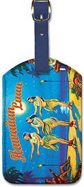 Hawaiian Luau - Hawaiian Leatherette Luggage Tags