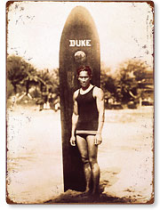 Young Duke Kahanamoku, Honolulu, Hawaii - Hawaiian Vintage Metal Signs