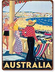 Australia Beach - Vintage Metal Signs