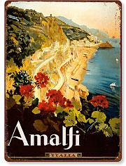 Amalfi Italia - Campania, Italy - Vintage Metal Signs