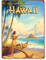 Aloha Hawaii - Hawaiian Vintage Metal Signs