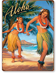 Aloha - Hawaiian Vintage Metal Signs