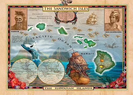 Hawaiian magnet old world map of hawaii john enright hawaii magnet gumiabroncs Choice Image