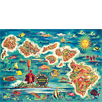 Map of the Hawaiian Islands - Hawaii Magnet