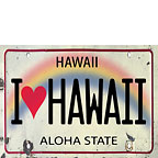 I Heart Hawaii License Plate - Hawaii Magnet